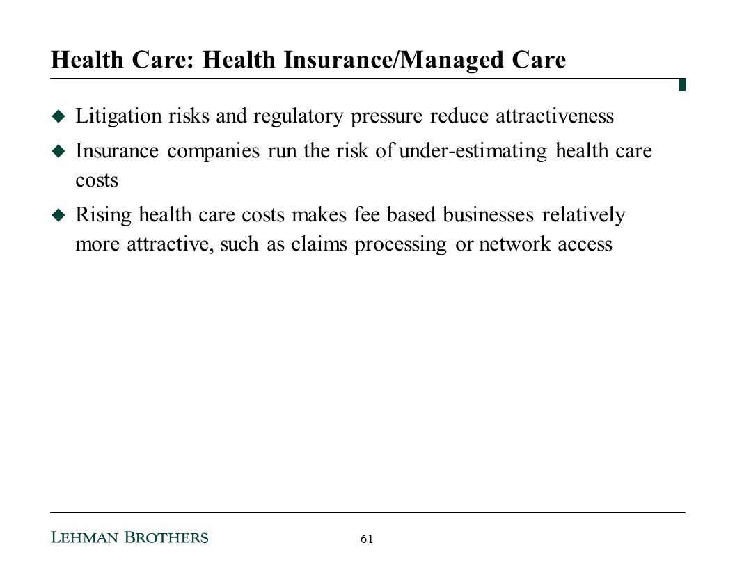 Health Care: Health Insurance/Managed Care