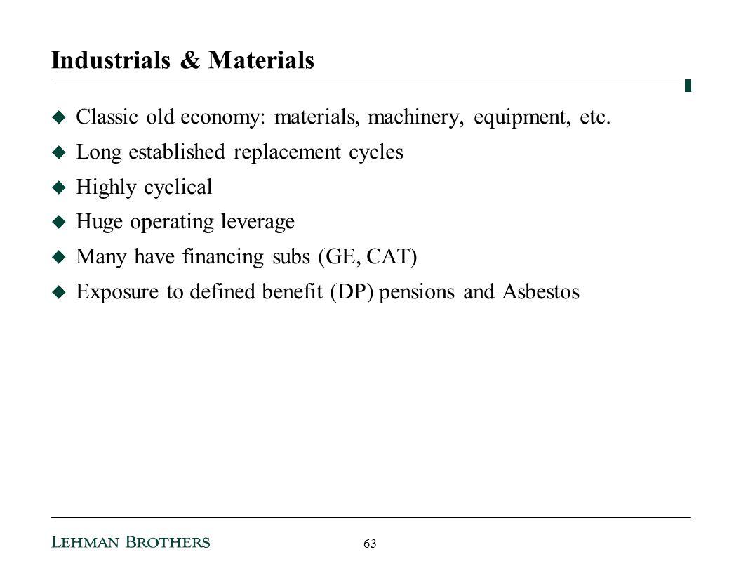 Industrials & Materials