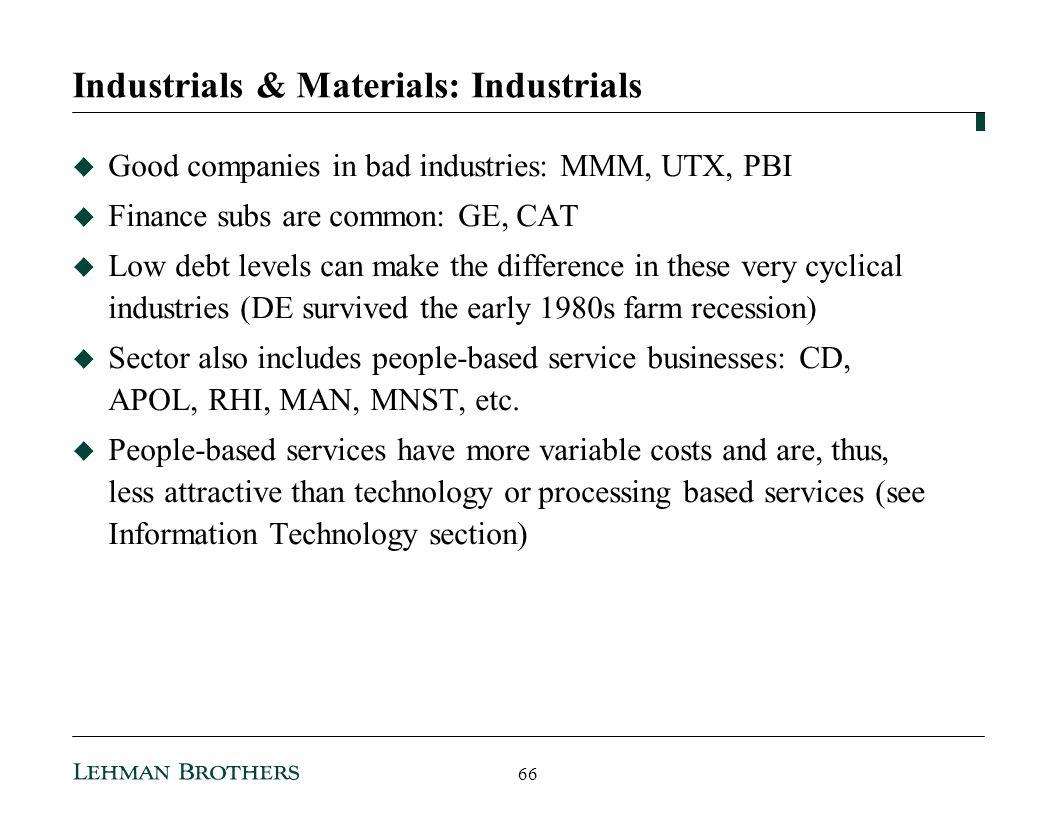 Industrials & Materials: Industrials
