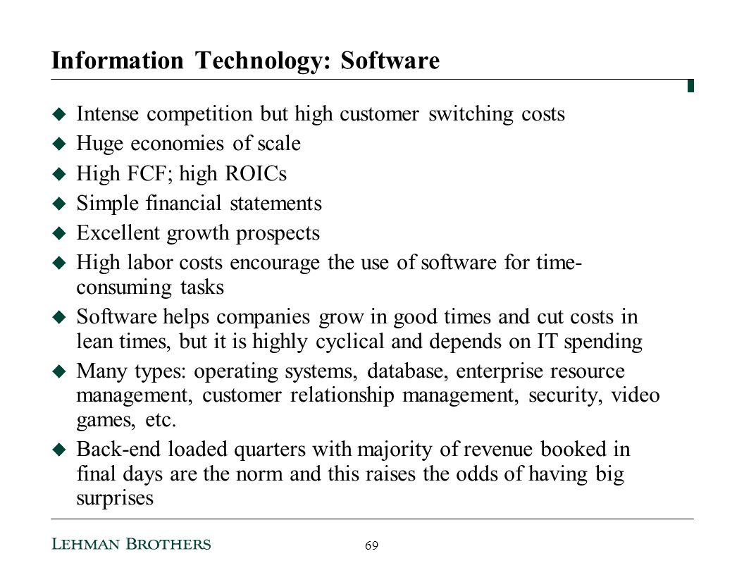 Information Technology: Software