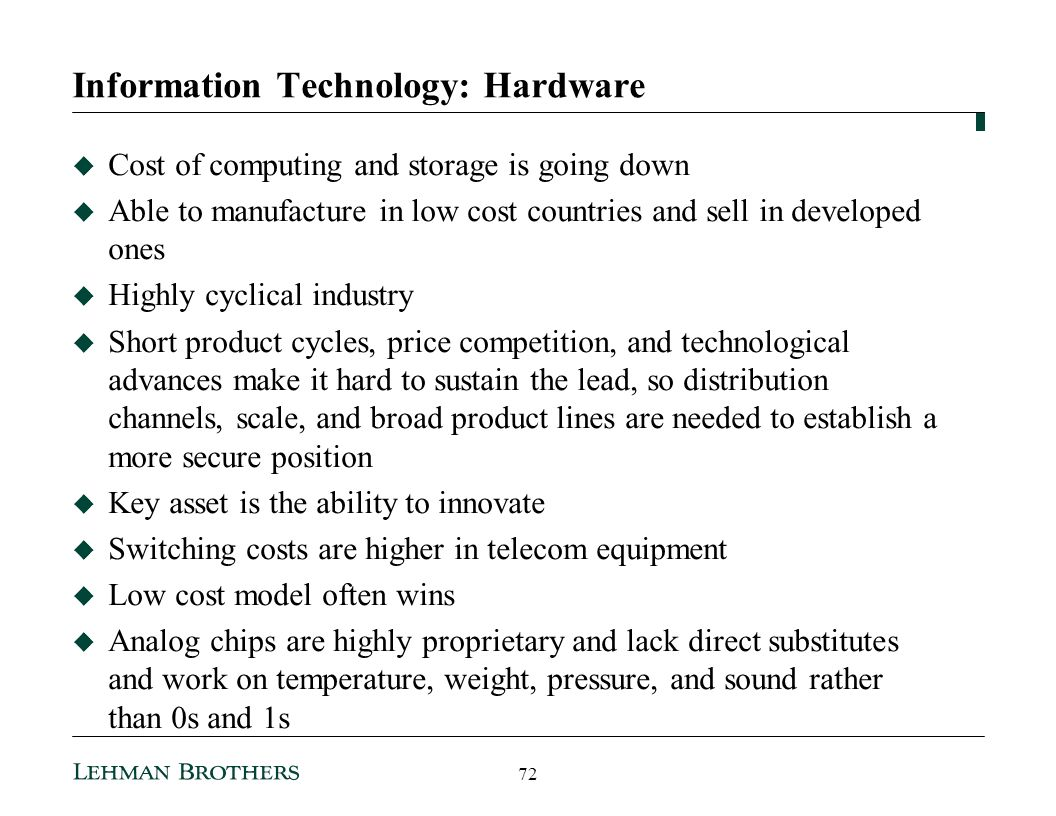 Information Technology: Hardware