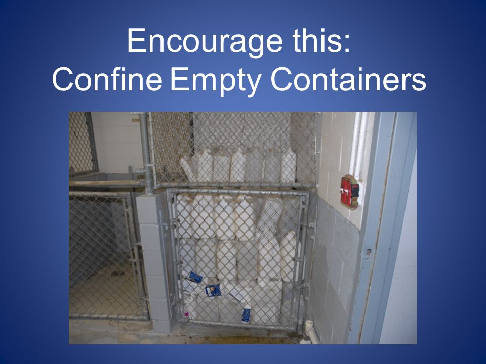Confine Empty Containers