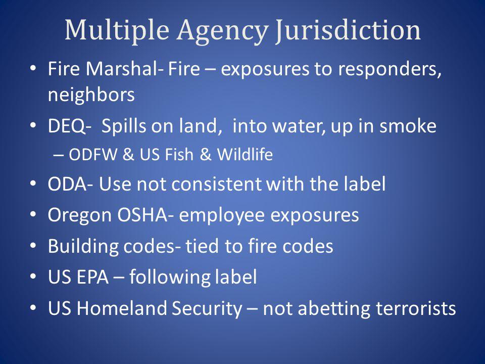 Multiple Agency Jurisdiction
