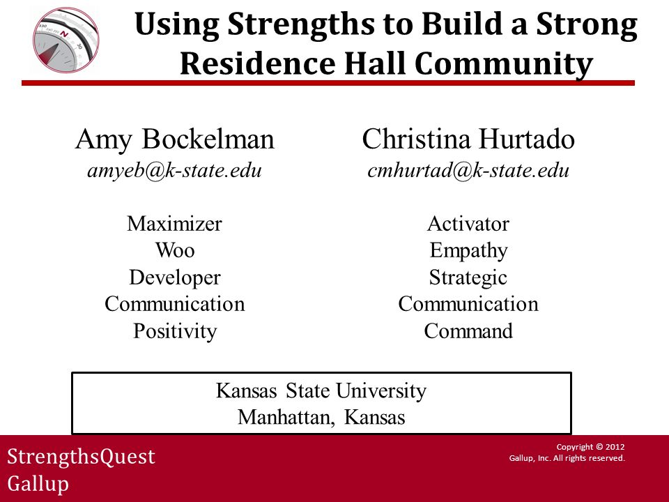 Using Strengths to Build a Strong Residence Hall Community