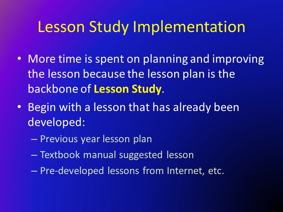 Lesson Study Implementation