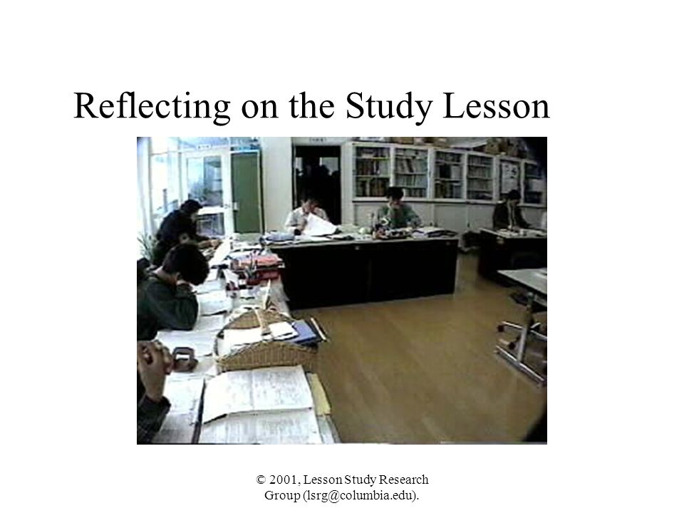 Reflecting on the Study Lesson