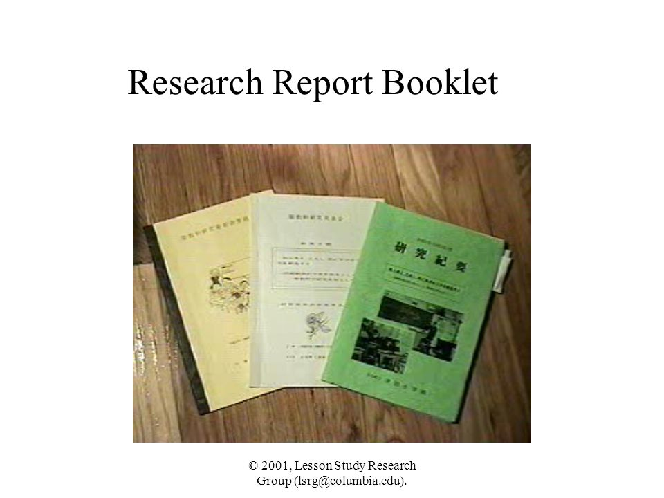Research Report Booklet