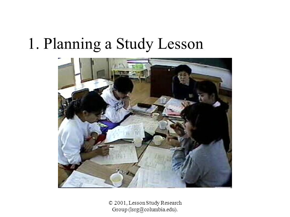 1. Planning a Study Lesson