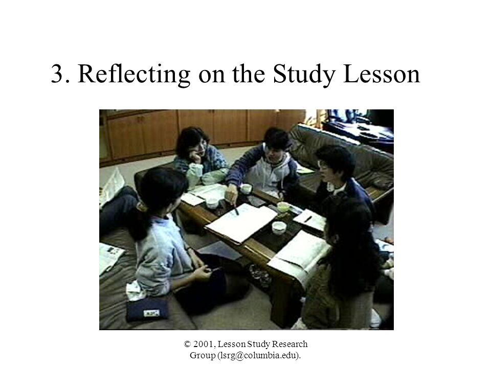 3. Reflecting on the Study Lesson