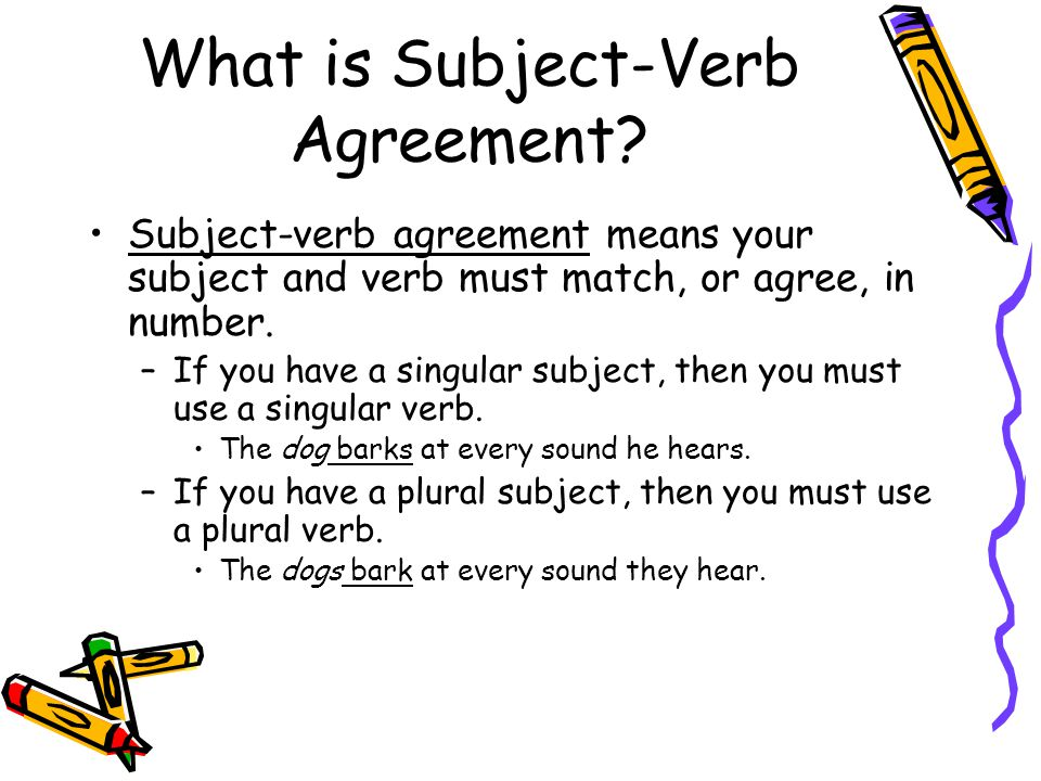 What is Subject-Verb Agreement