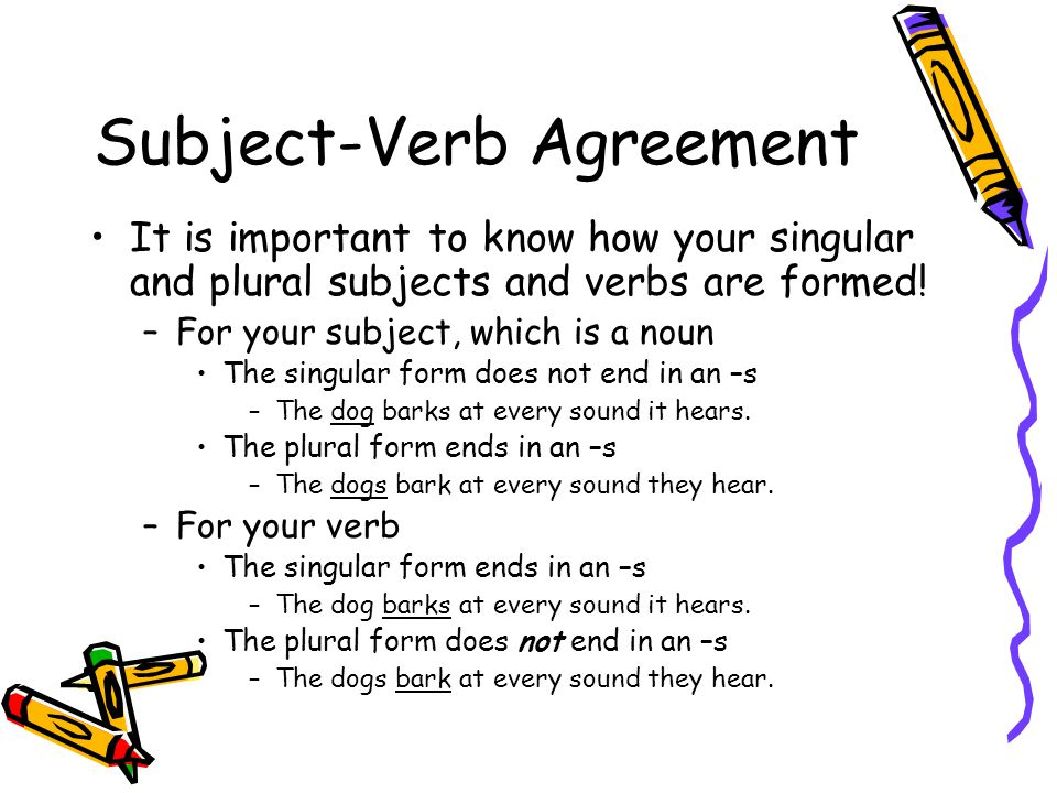Subject And Verb Agreement Coursework Academic Writing Service