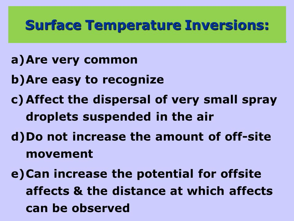 Surface Temperature Inversions:
