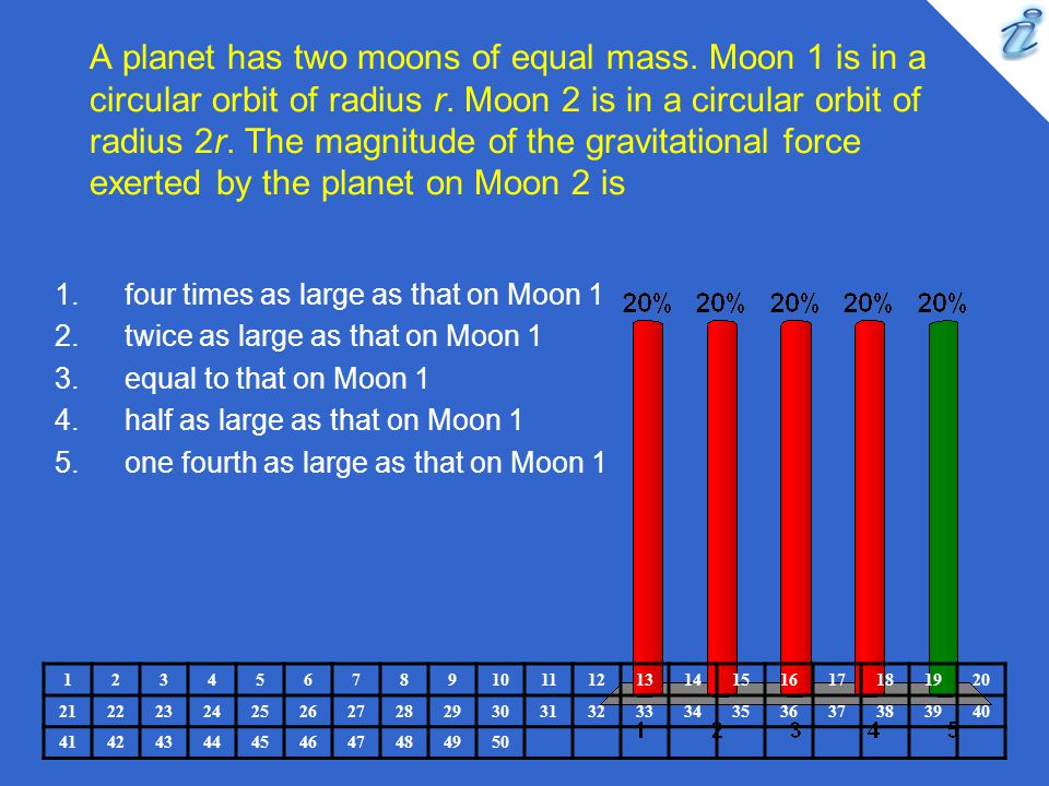 A planet has two moons of equal mass