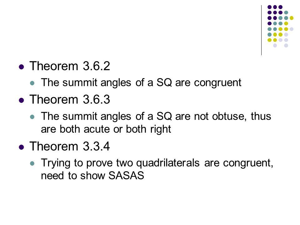 Theorem 3.6.2 Theorem 3.6.3 Theorem 3.3.4