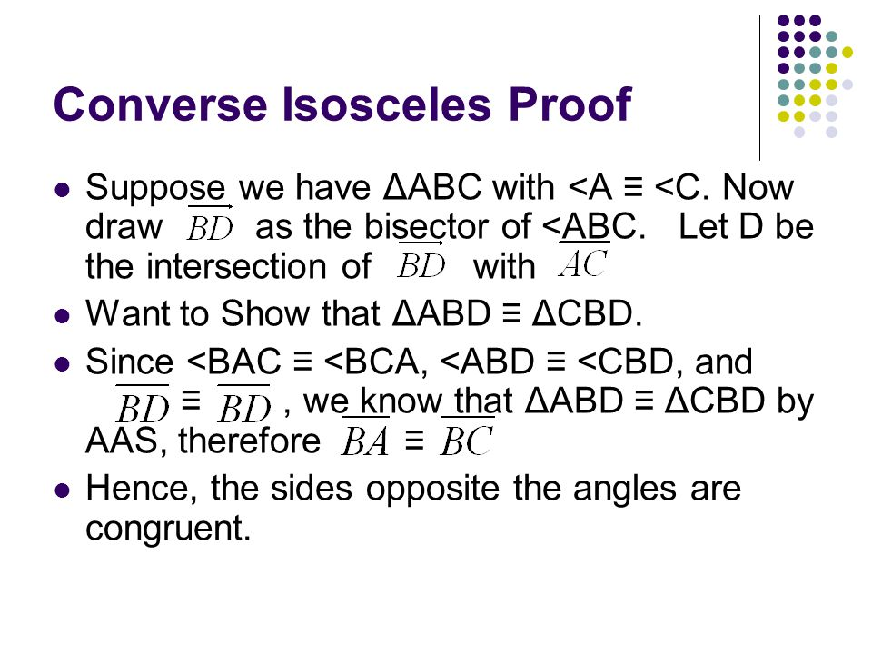 Converse Isosceles Proof