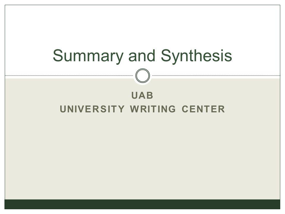 UAB University Writing Center