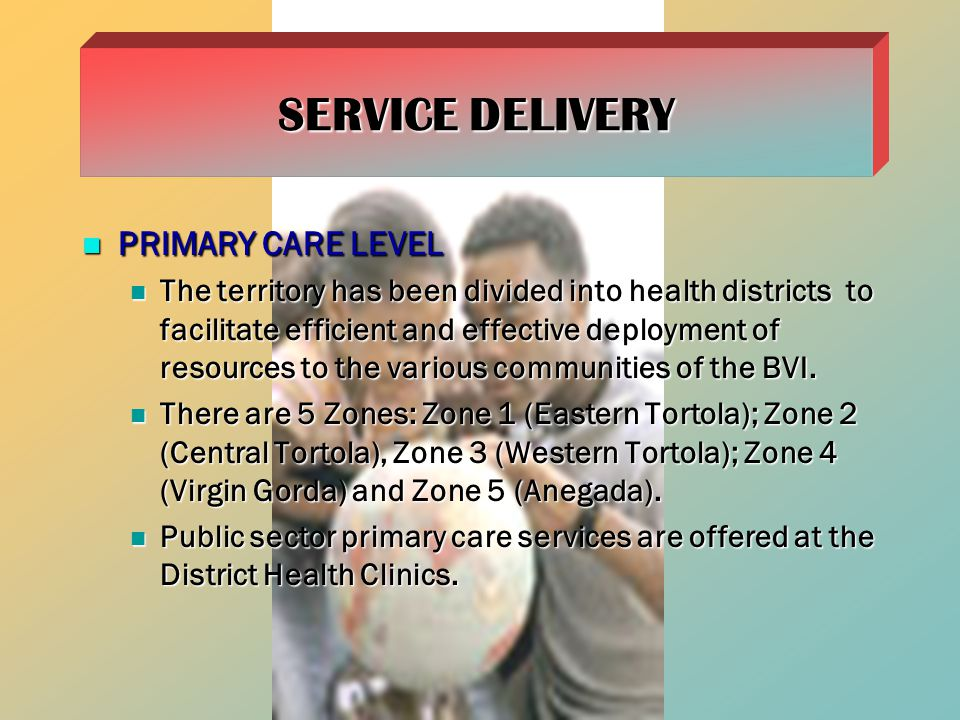 SERVICE DELIVERY PRIMARY CARE LEVEL