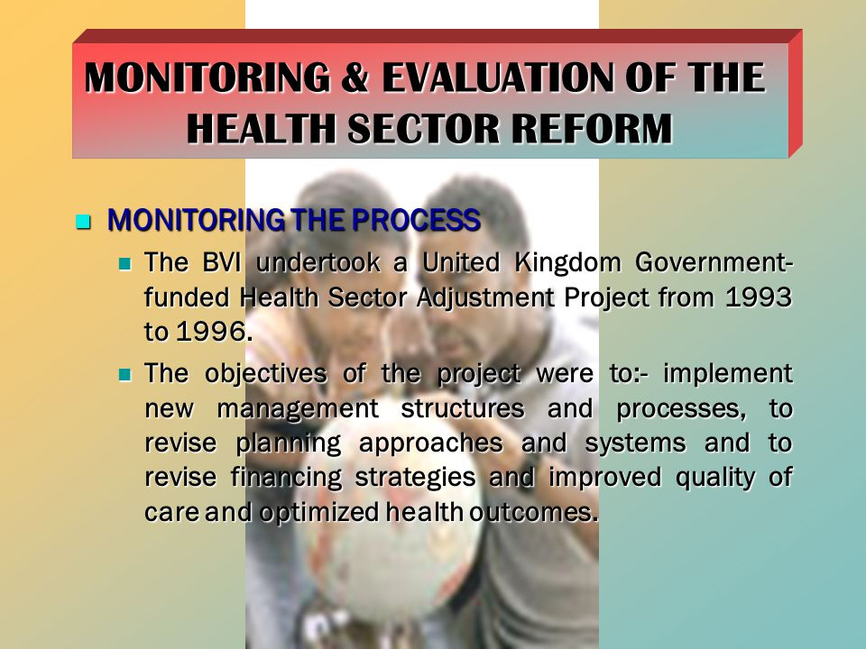 MONITORING & EVALUATION OF THE