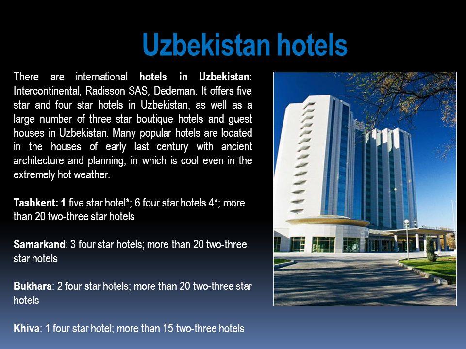 Uzbekistan hotels