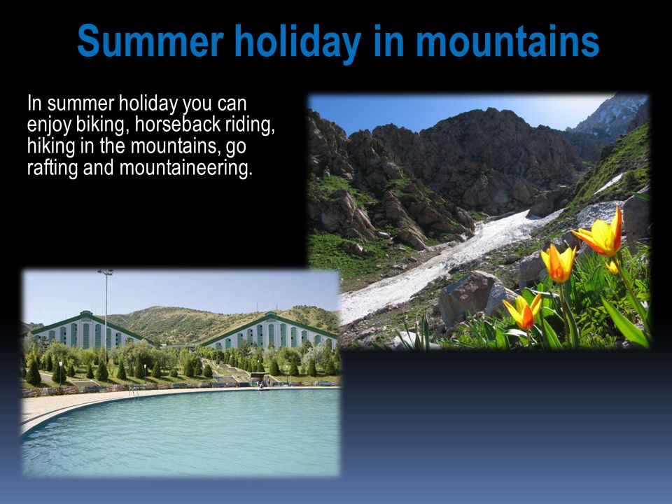 Summer holiday in mountains