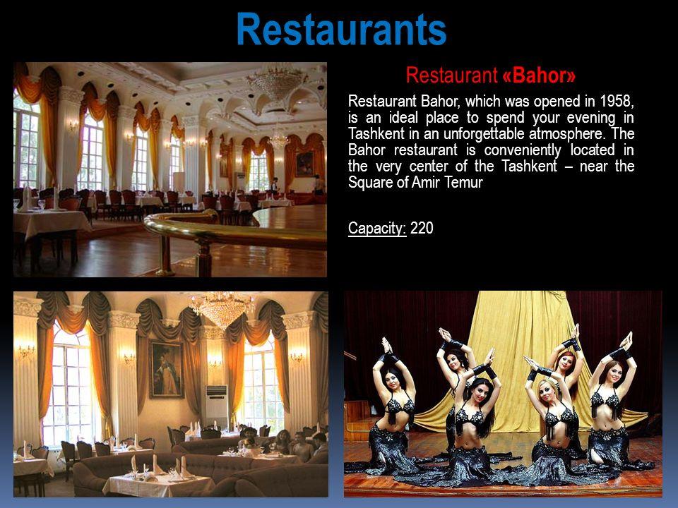 Restaurants Restaurant «Bahor»