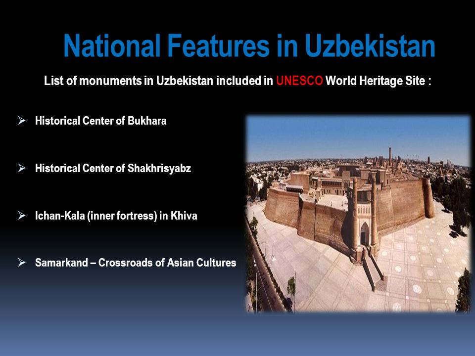 National Features in Uzbekistan