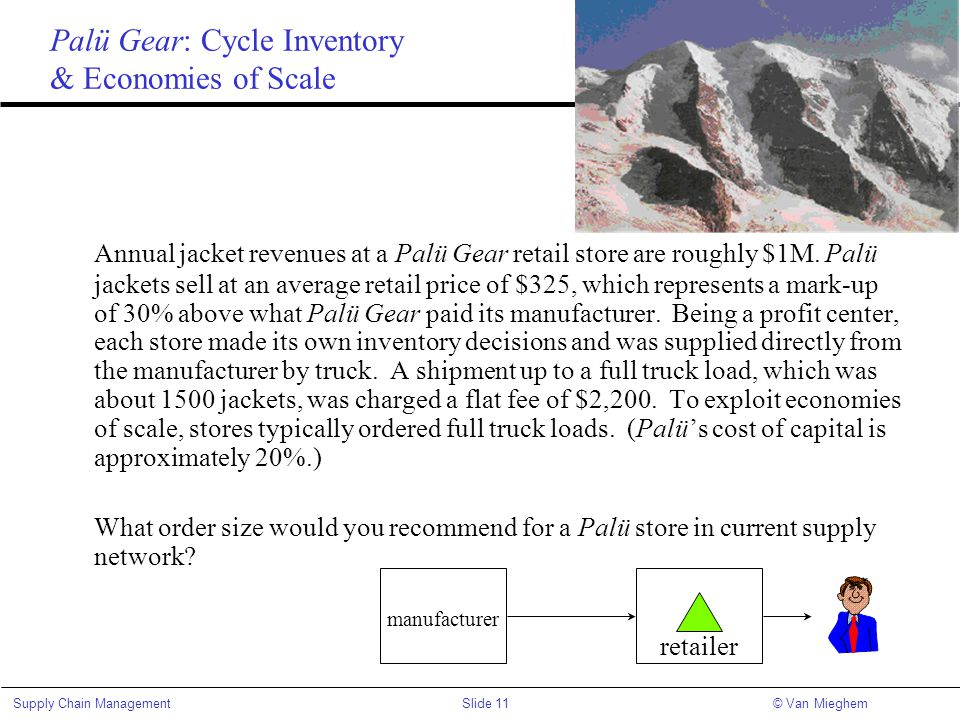 Palü Gear: Cycle Inventory & Economies of Scale