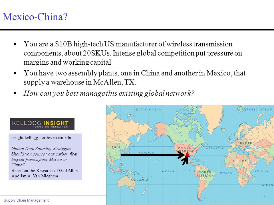 Global Dual Sourcing Mexico-China