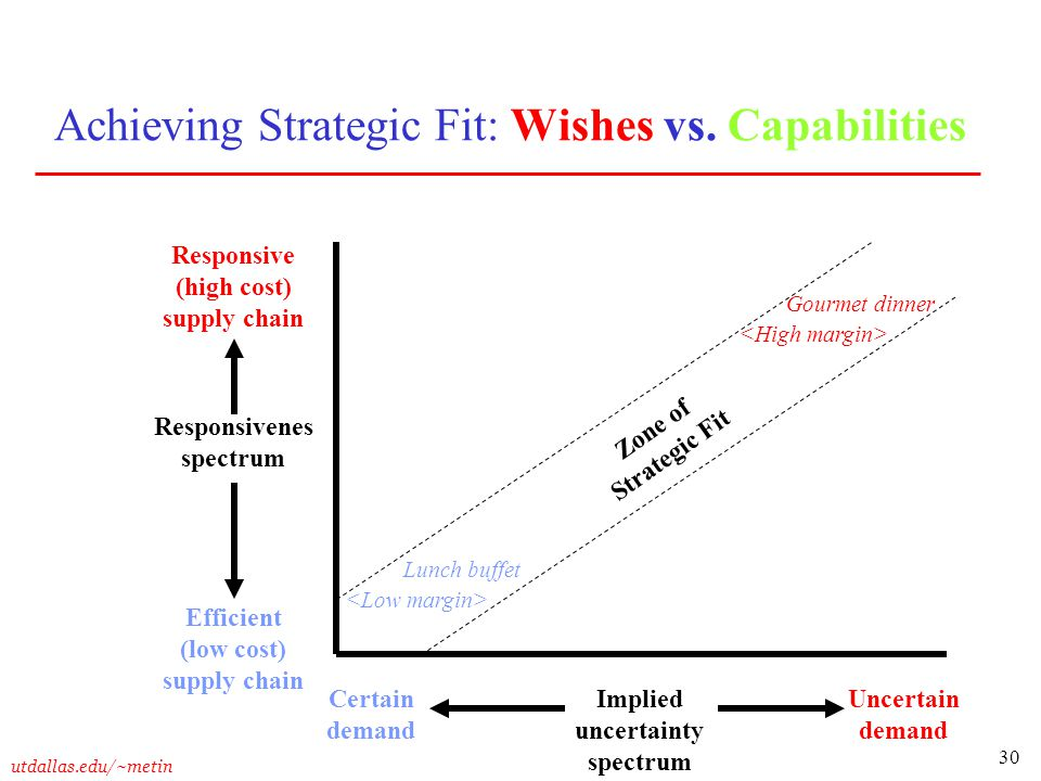 Achieving Strategic Fit: Wishes vs. Capabilities