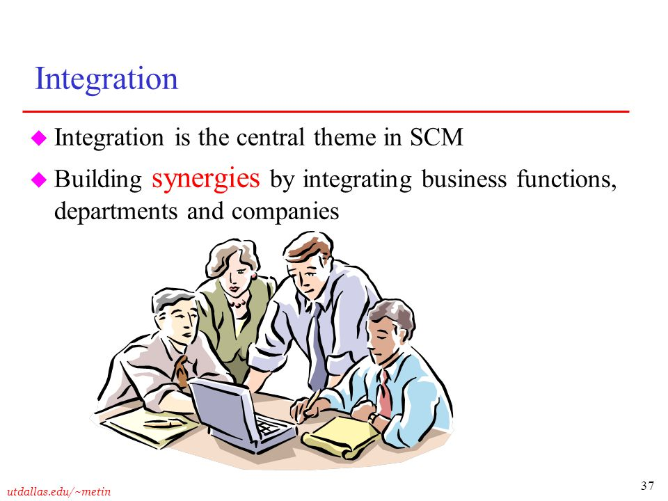 Integration Integration is the central theme in SCM
