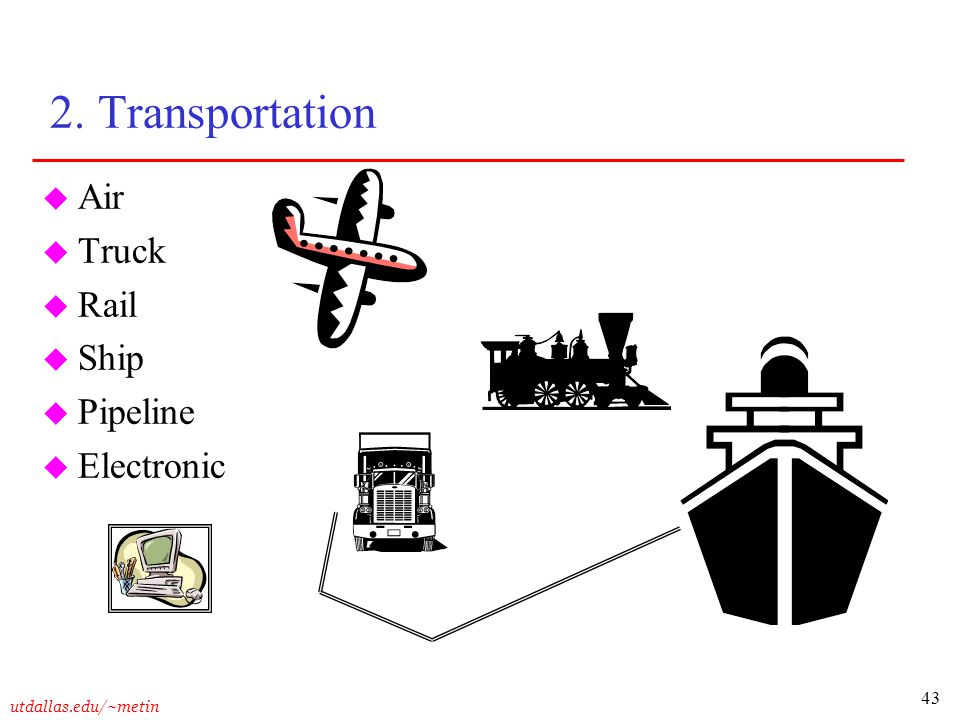 2. Transportation Air Truck Rail Ship Pipeline Electronic