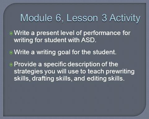 Module 6, Lesson 3 Activity