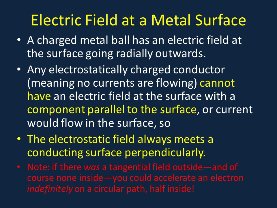 Electric Field at a Metal Surface