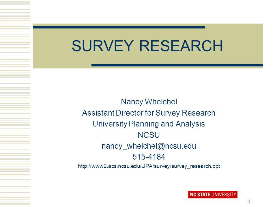 Survey Research Paper