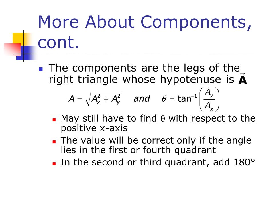 More About Components, cont.