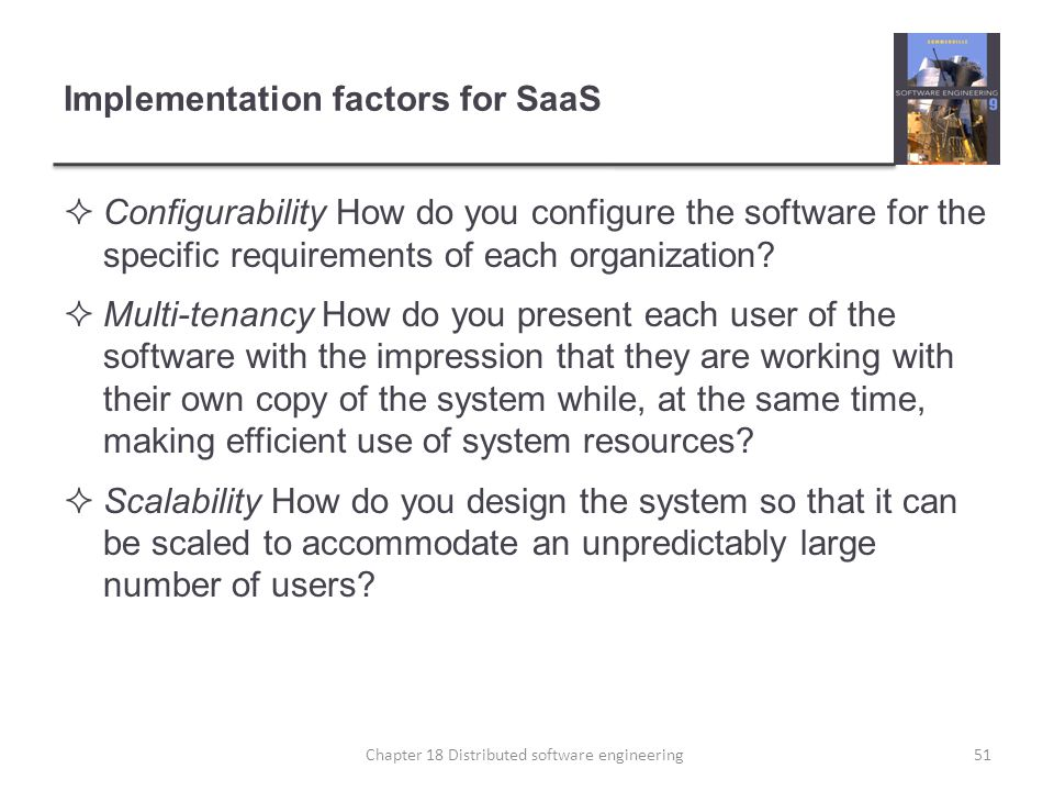 Implementation factors for SaaS