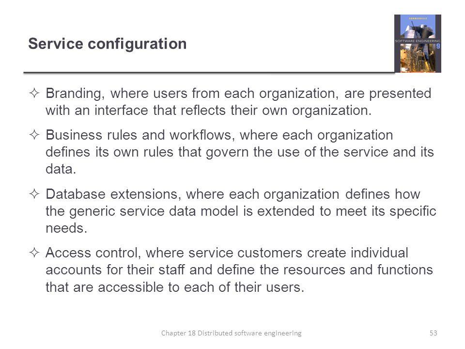 Service configuration