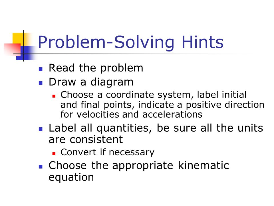 Problem-Solving Hints