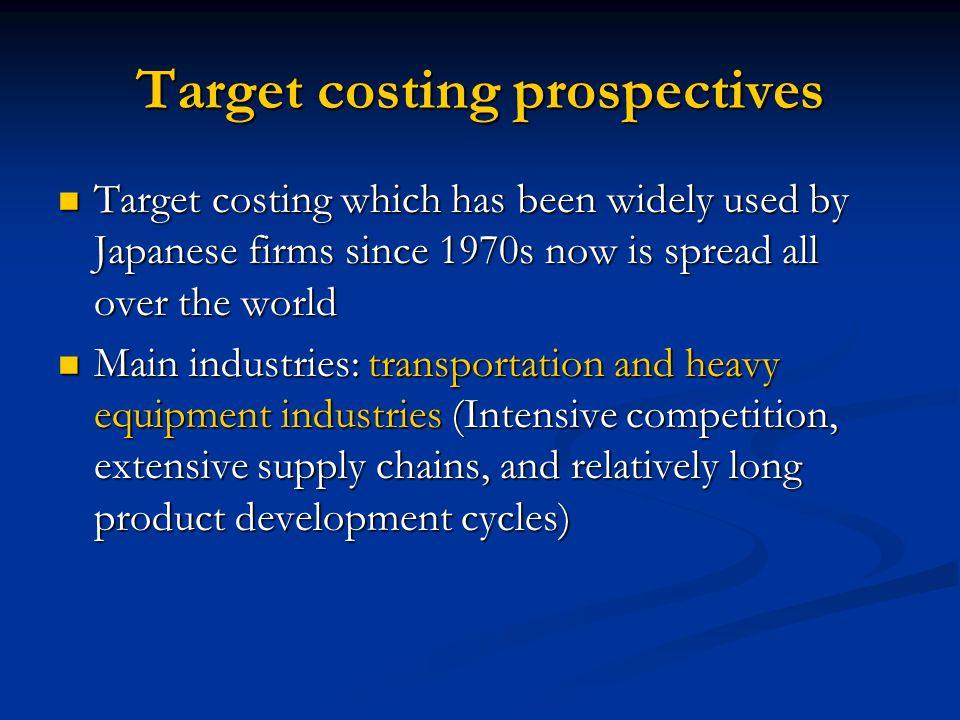 Target costing prospectives