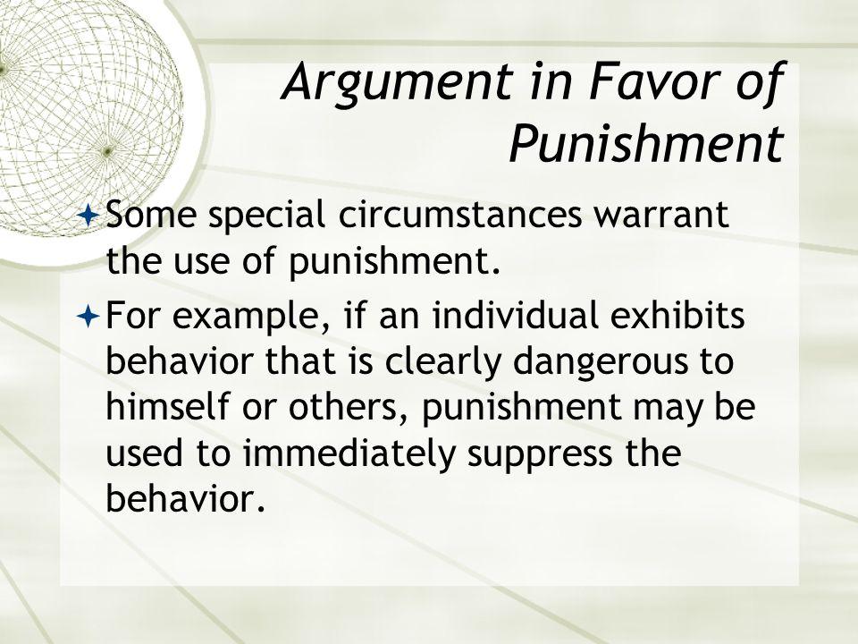 Argument in Favor of Punishment