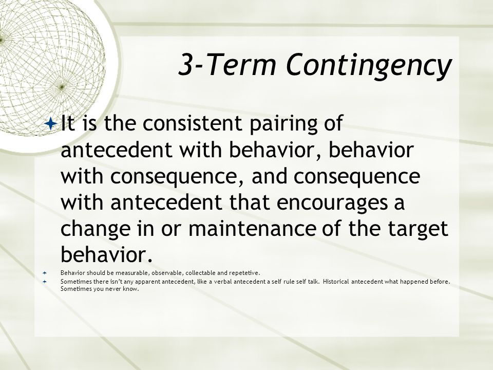 3-Term Contingency