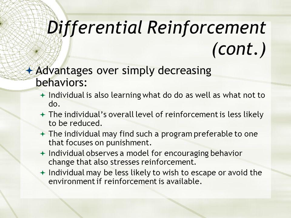Differential Reinforcement (cont.)