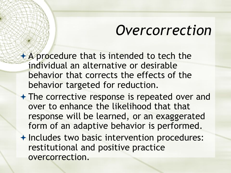 Overcorrection
