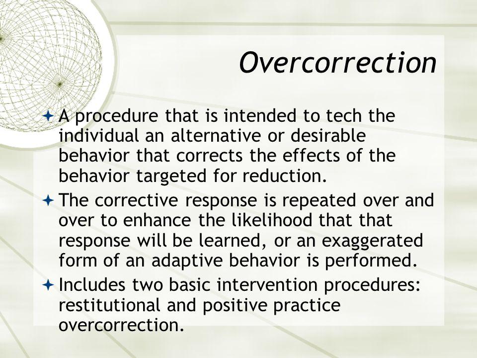 Overcorrection