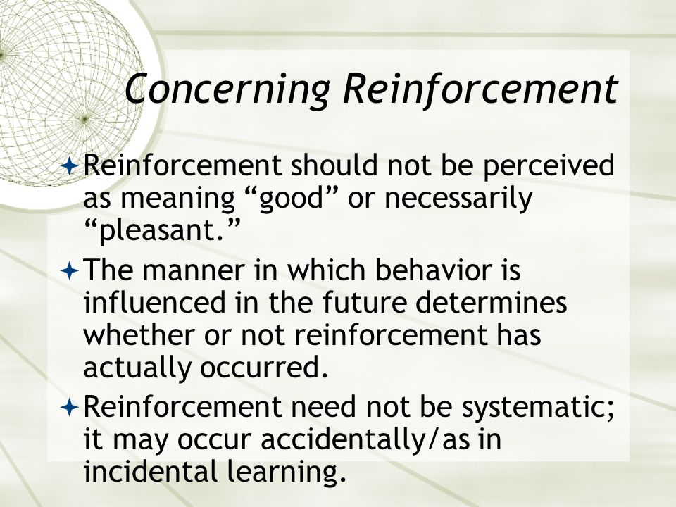 Concerning Reinforcement