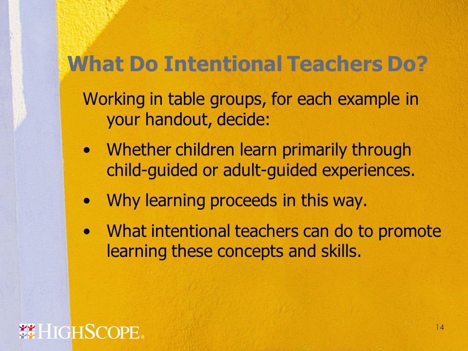 What Do Intentional Teachers Do