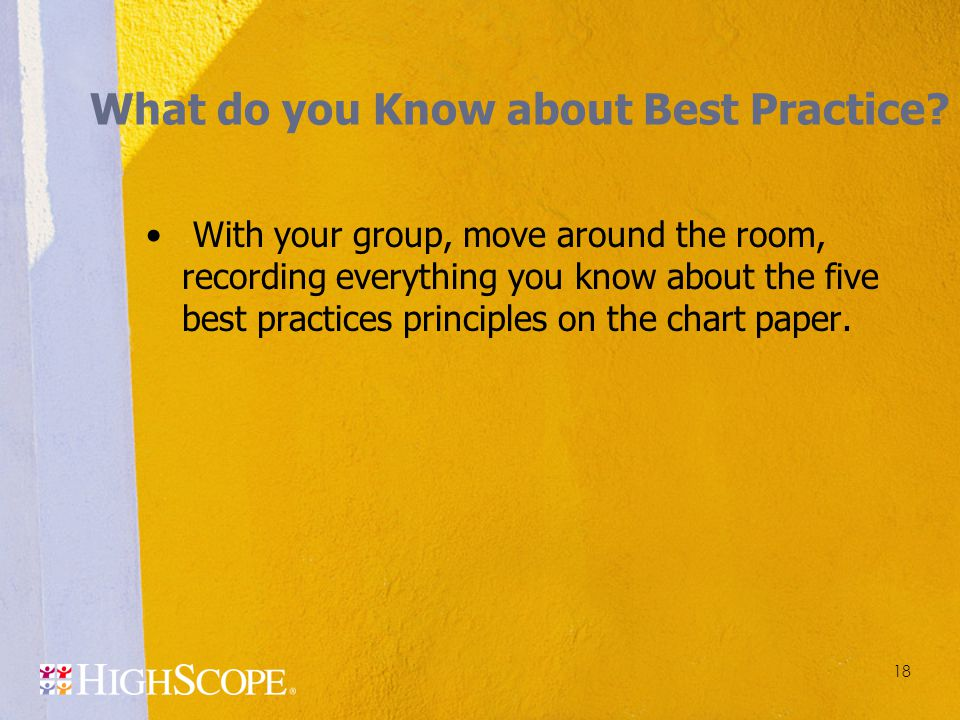 What do you Know about Best Practice