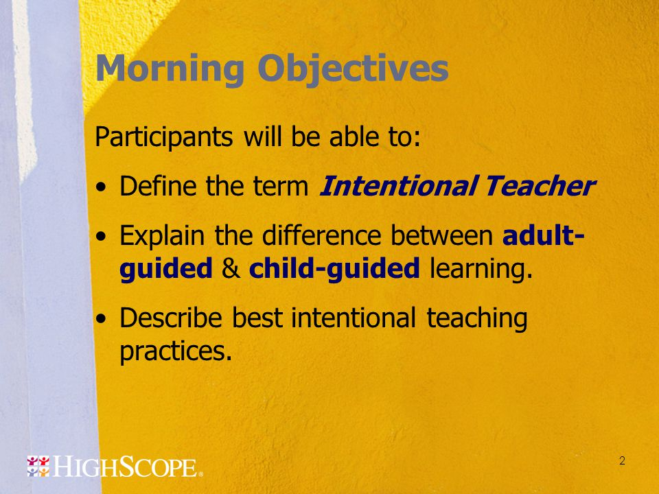Morning Objectives Participants will be able to: