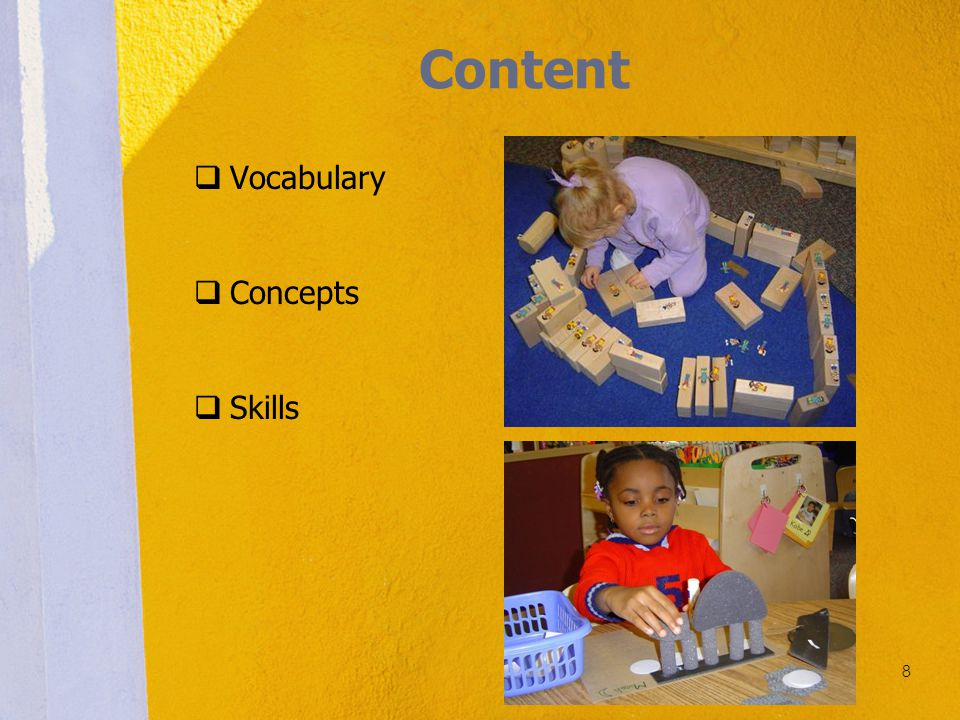 Content Vocabulary Concepts Skills