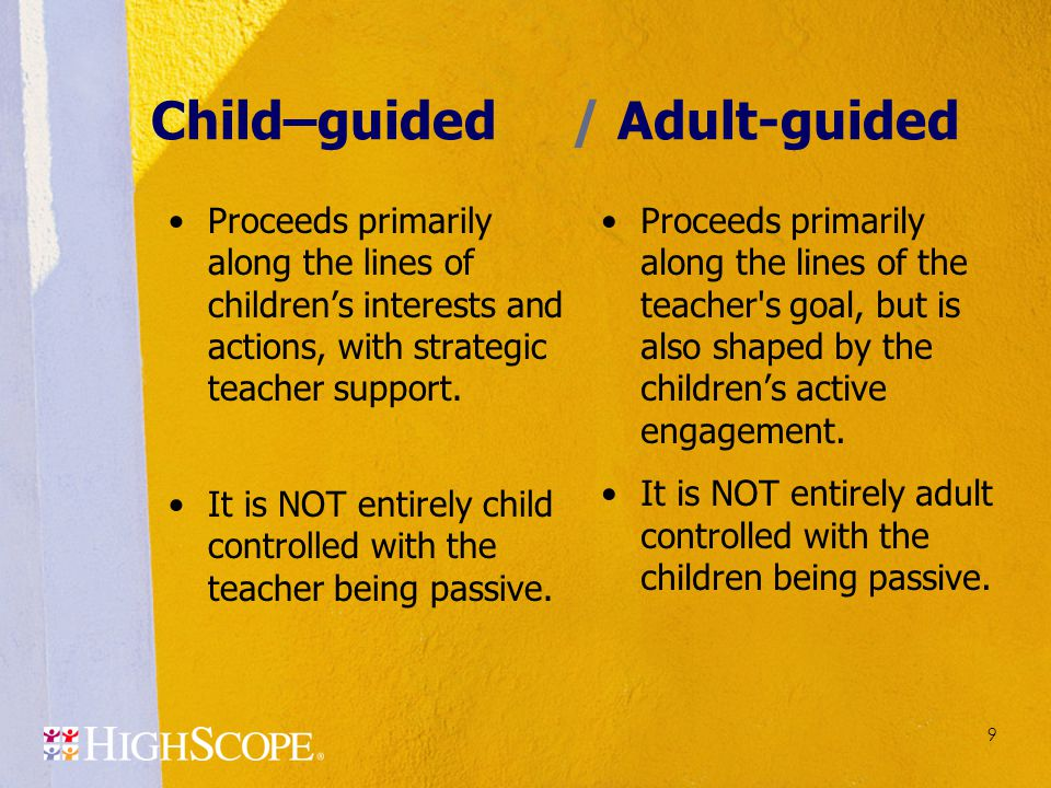 Child–guided / Adult-guided